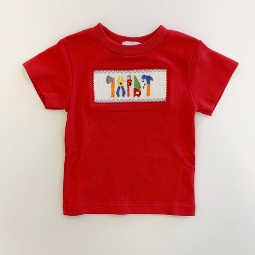 Tools Smocked Red Tee