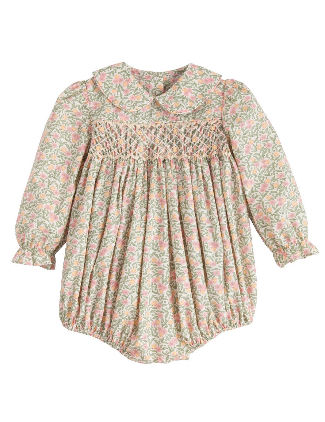 Smocked Charlotte Bubble- Summer Tree Floral