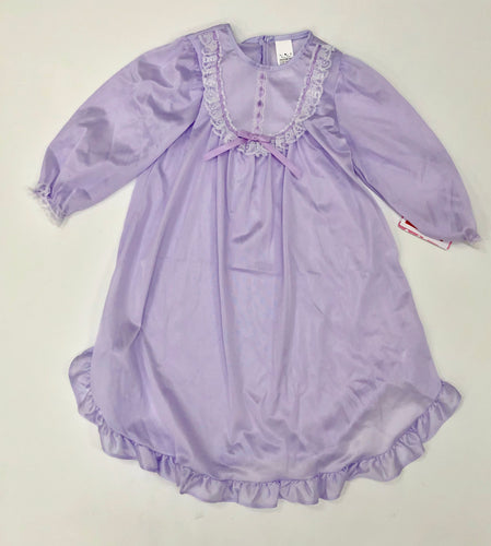 Lavender Silk Night Gown