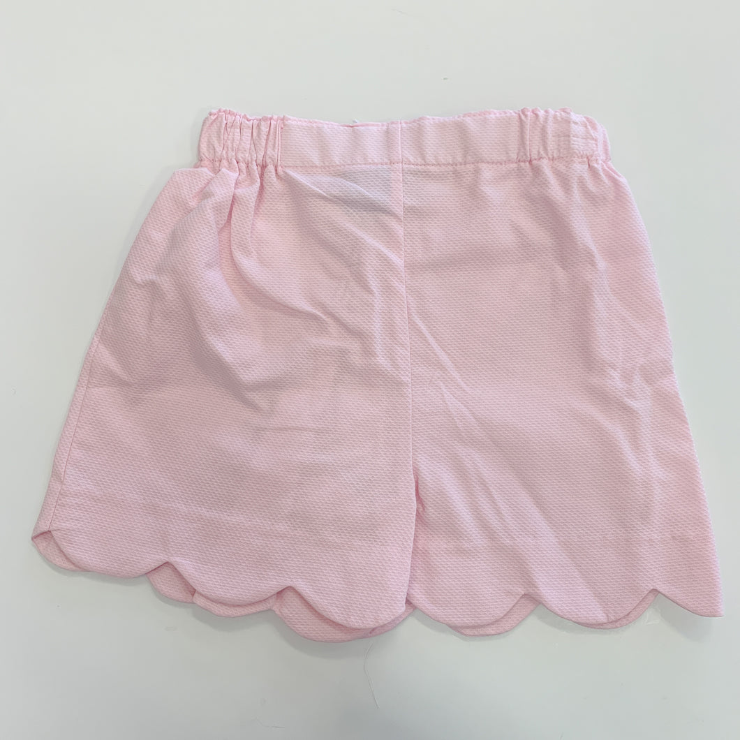 Pink Scallop Heart Pocket Short