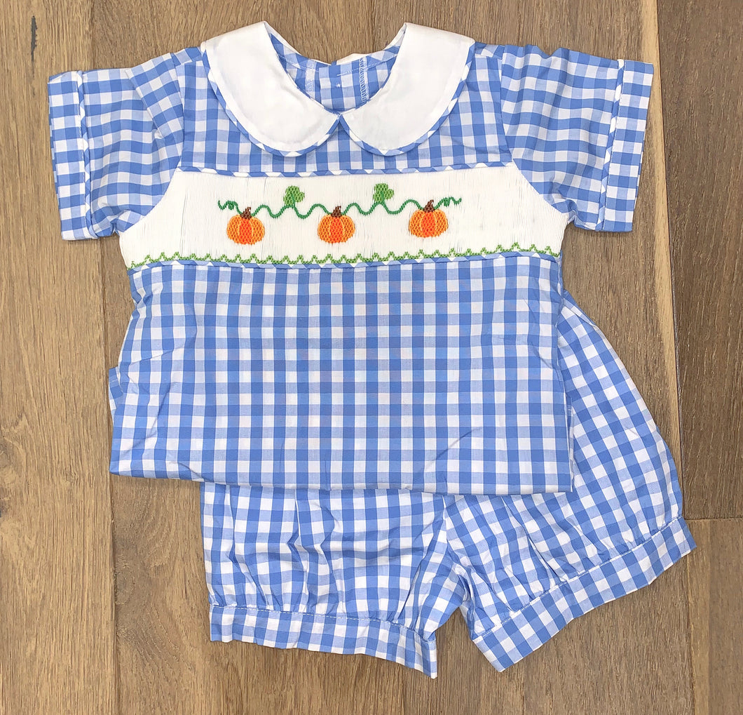 Boy Pumpkin Short Set