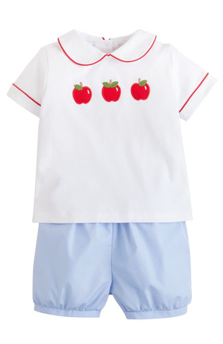 Apple Applique Short Set