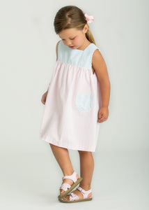 Madison Dress Pink/Blue Seersucker