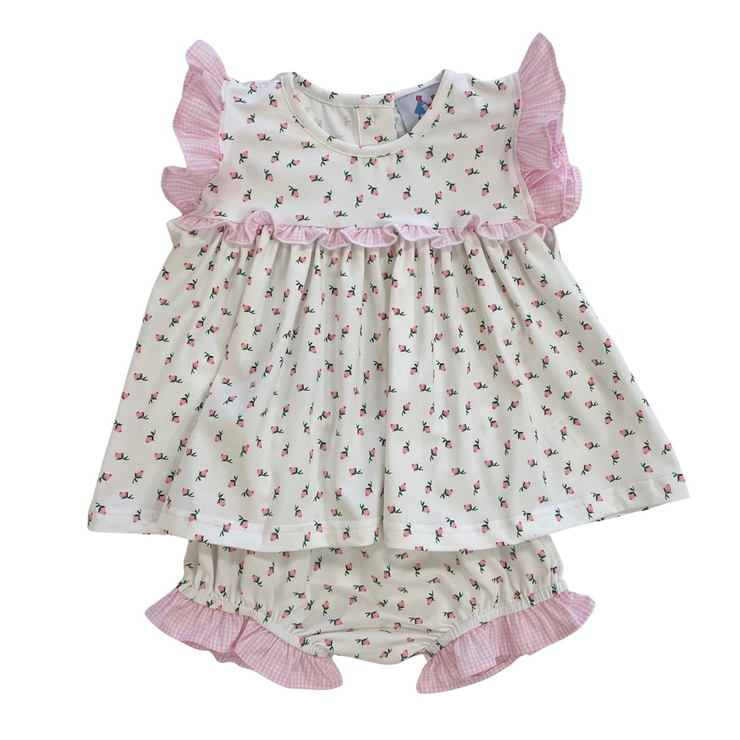 Rosalyn Rosebud Knit Bloomer Set