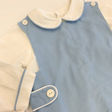 Load image into Gallery viewer, Blue Cord Shortall w/trimmed Shirt