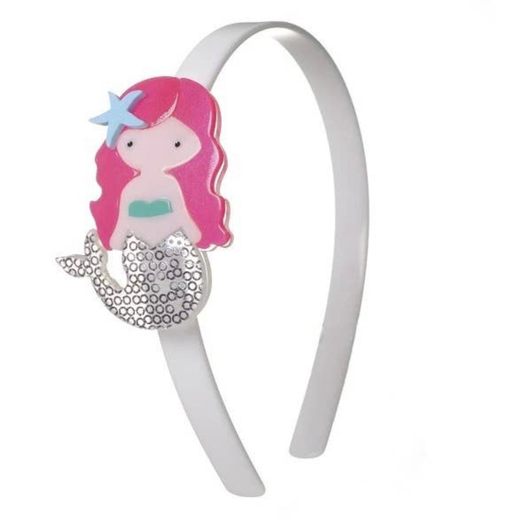 Acrylic Headband Silver Mermaid