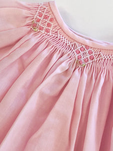 Smocked Day Gown-Pink