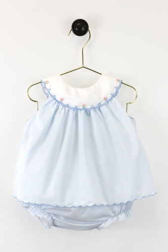 Blue Bitty Dot Bloomer Set