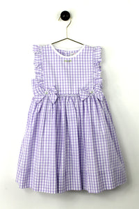 Purple Gingham Dress w/ Bows