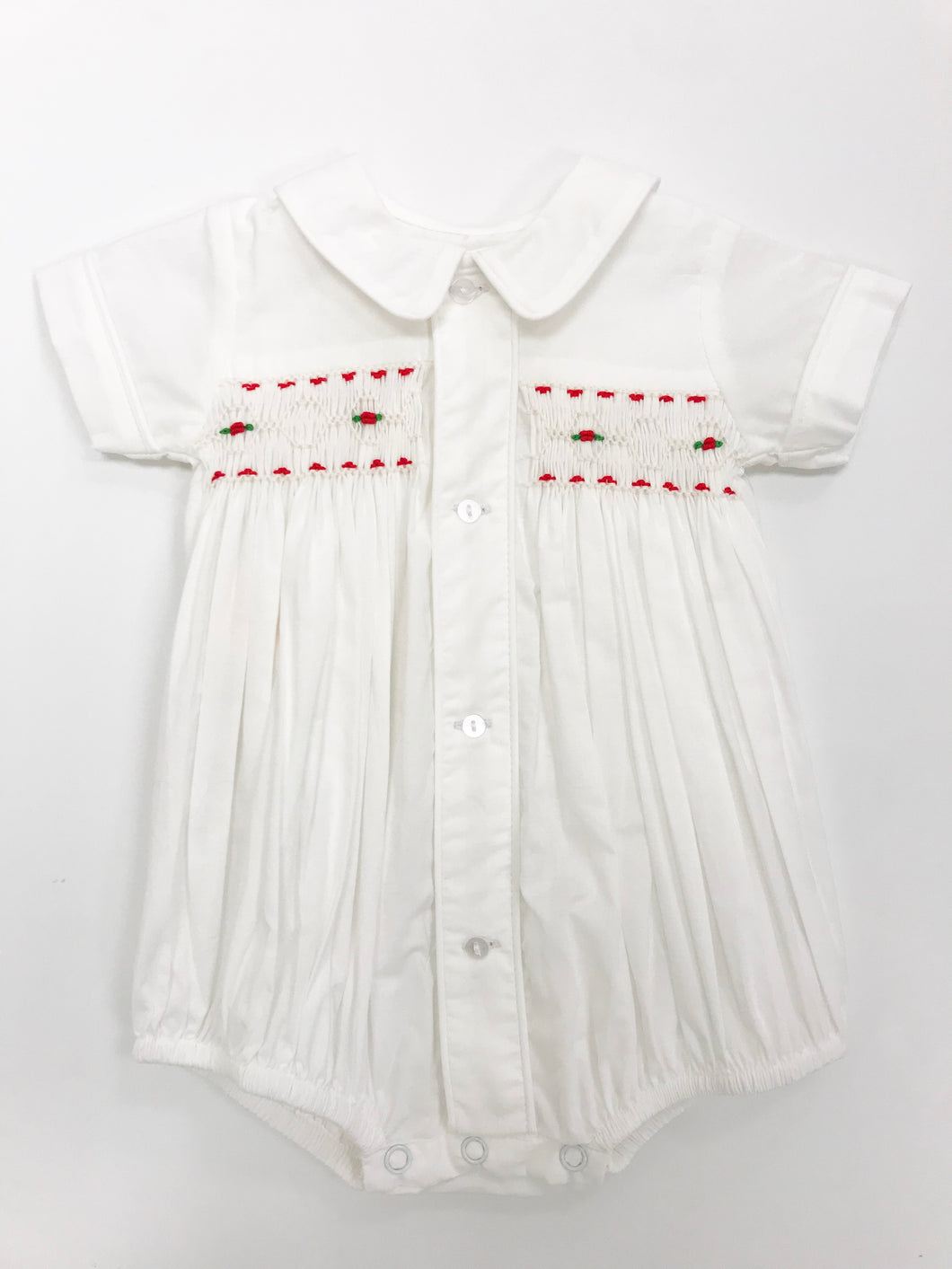 Boy Smocked Christmas Bubble