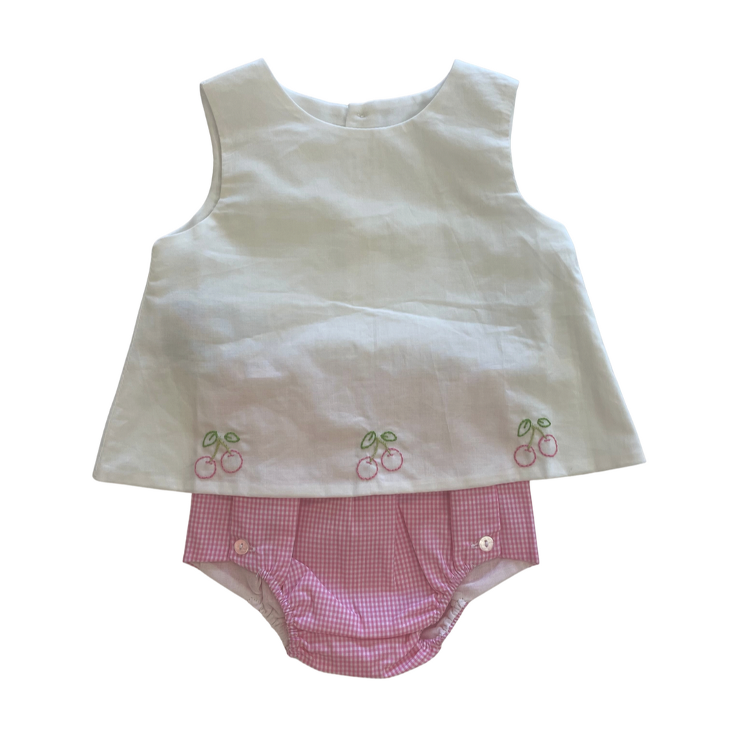 Cherry Diaper Set Girl