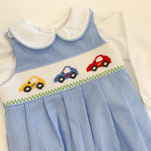 Load image into Gallery viewer, Car Smocked Long Romper