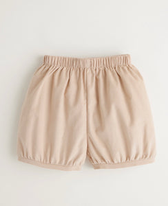 Tan Corduroy Banded Short