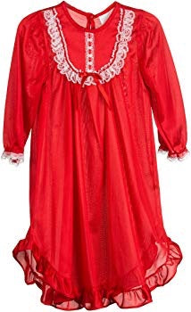 Red Silk Night Gown