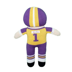 Football Player Doll Purple/Gold 12""