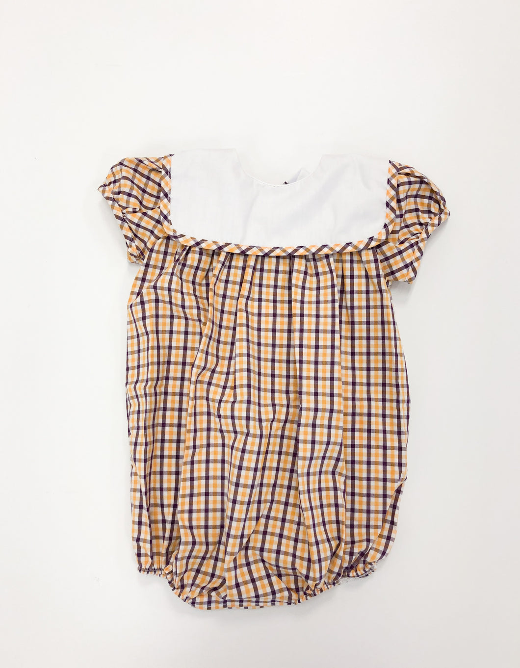 Plaid Girl Bubble with Bib