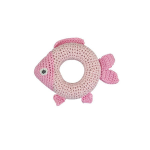 Ring Rattle Pink Fish