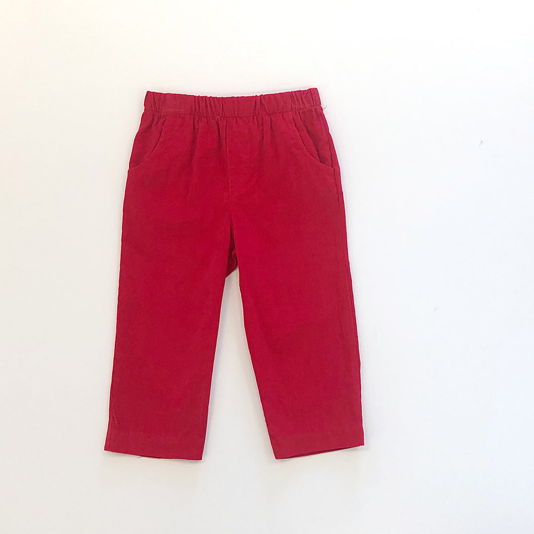 Red Cord Pull on Pant w/pockets