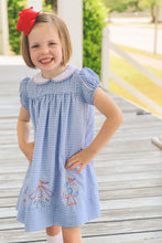Load image into Gallery viewer, Fair Dress-Blue Gingham