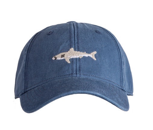 Great White Shark on Navy Baseball Hat