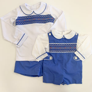 Snow Smocked Short Set