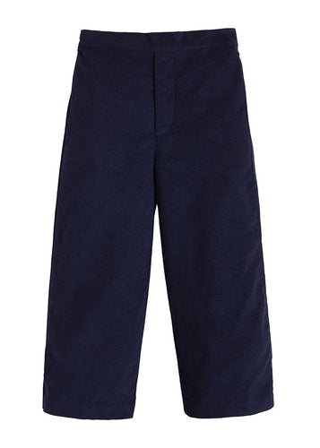 Navy Cord Pull on Pant