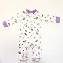 Load image into Gallery viewer, Mardi Gras Boy Footed Pajamas