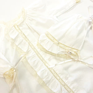 White Faith Daygown and Bonnet Set