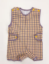 Load image into Gallery viewer, LSU Plaid Shortall
