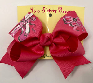 Hot Pink Ballet Slippers Bow