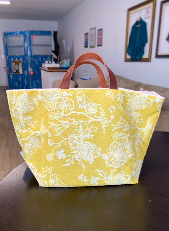 Yellow Floral Project Bag