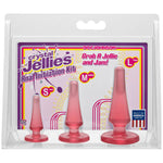 Crystal Jellies Anal Initiation Kit -  Butt Plugs - Set of 3 Sizes