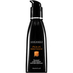 Wicked Aqua Salted Caramel - Salted Caramel Flavou Water Based Lubricant - 120 ml (4 oz) Bottle