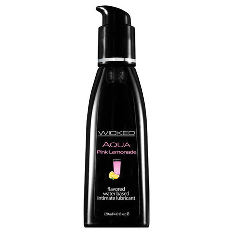 Wicked Aqua  Lemonade -  Lemonade Flavoured Water Based Lubricant - 120 ml (4 oz) Bottle