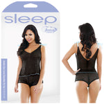 Sleep Nadia Geo Lace Shoulder Tie Top & Shorts Set -  - S/M Size