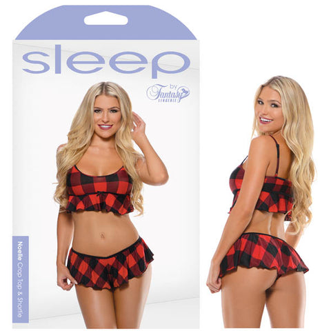 Sleep Noelle Crop Top & Shortie -  - S/M Size