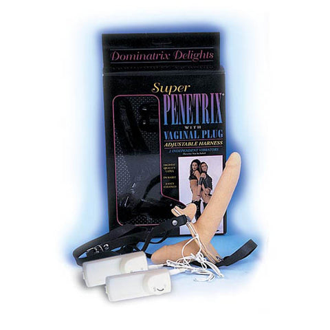 Super Penetrix -  Vibrating Strap-On with Vaginal Plug