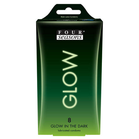 Glow N' Dark Condoms - Glow In The Dark Lubricated Condoms - 8 Pack