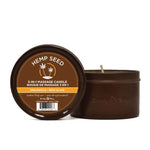 Hemp Seed 3-In-1 Massage Candle - Dreamsicle (Tangerine & Plum) - 170 g