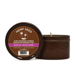 Hemp Seed 3-In-1 Massage Candle - Skinny Dip (Vanilla & Fairy Floss)- 170 g