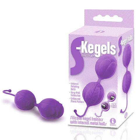 The 9's S-Kegals - Purple Silicone Kegel Balls
