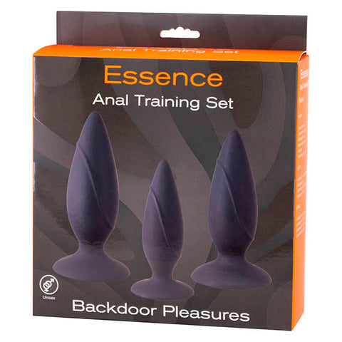 Seven Creations Essence Training Set - Black Butt Plugs - Set of 3 Sizes