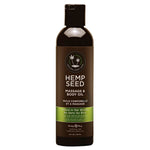Hemp Seed Massage & Body Oil - Naked In The Woods ( Tea & Ginger) Scented - 237 ml Bottle