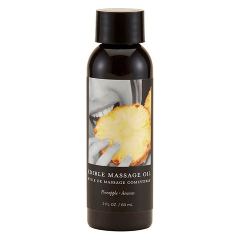 Edible Massage Oil - Pineapple Flavoured - 59 ml Bottle