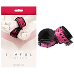 Sinful - Wrist Cuffs - /Black Restraints
