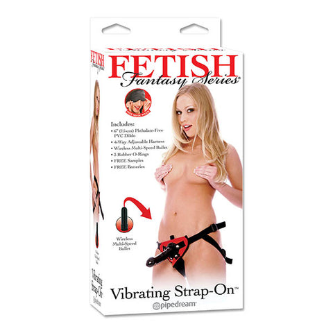 Fetish Fantasy Series Vibrating Strap-On - Black 15.2 cm (6'') Vibrating Strap-On