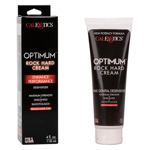 Optimum Rock Hard Cream - Male Desensitiser Cream - 118 ml (4 oz) Tube