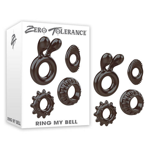 Zero Tolerance Ring My Bell - Black Cock Rings - Set of 4