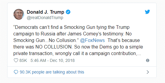 doanld trump smocking tweet