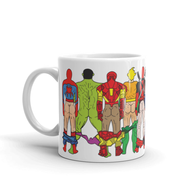 super hero butts coffee mug